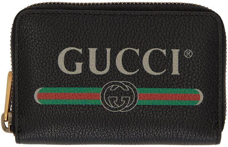 Gucci - Black Logo Zip Around Wallet