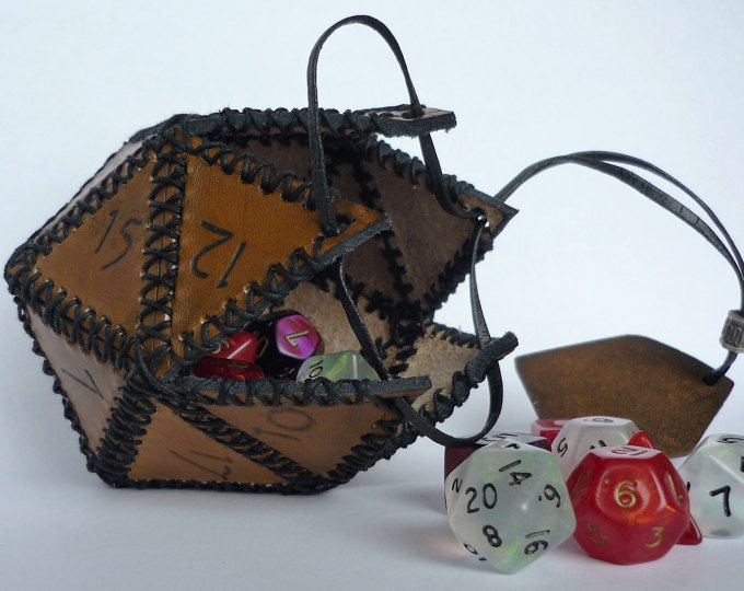 Horntail Wyrm Egg Container For Lots O 'Dice and Other Trinkets of Sorcery w / Optional Soft Liner