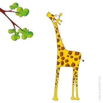 Sticker enfant girafe