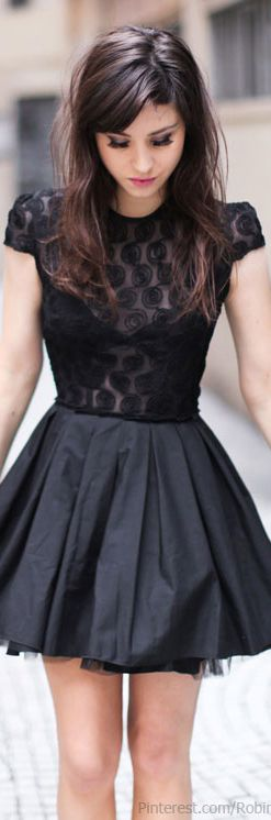 cocktail dress #black <3
