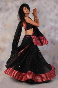 Black & red chaniya choli
