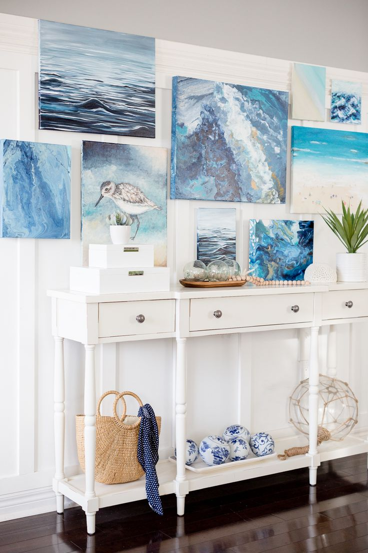 The 398 best Gallery Walls images on Pinterest | Beach, Centrepiece ...