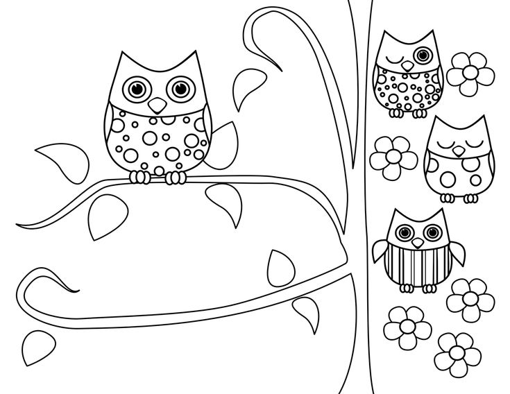 owl coloring pages free printables tricia rennea illustrator mothers day is for