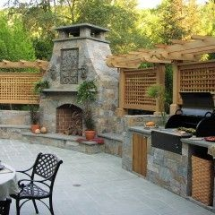 Great way for me to create an outdoor dining and living area with some privacy.