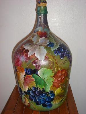 pintando malmequeres em garrafão - Pesquisa do Google