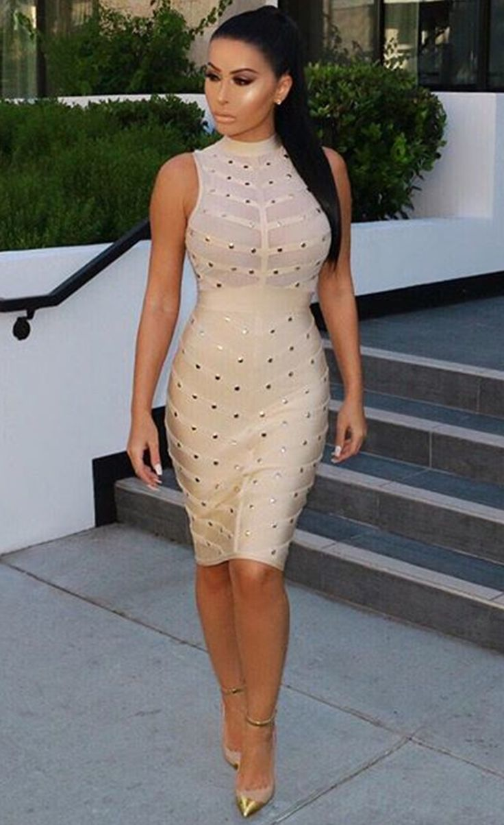 $109.99 Studded Bandage Dress