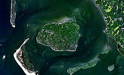 Feer / Föhr / Før (Schleswig-Holstein, Kreis Nordfriesland) - Satelitenbil faan Feer