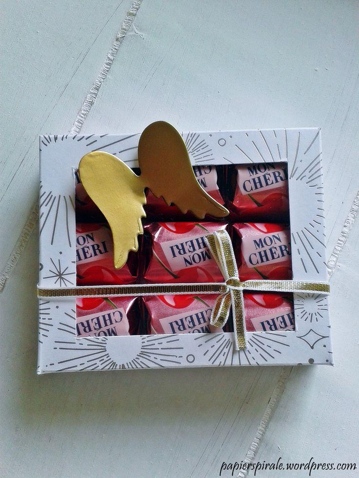 Weihnachtliche Verpackung für Mon Cheri od. Küsschen