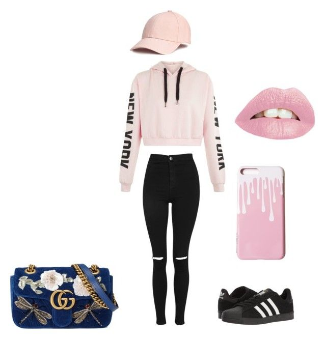 """""""Sterio Typical Kylie jenner look alike"""" by daniaruiz ❤ liked on Polyvore featuring Topshop, adidas and Gucci"""
