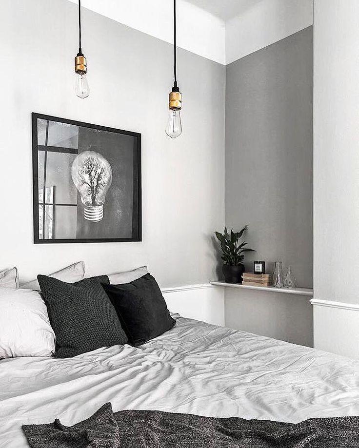 25 beste idee n over zwart wit slaapkamers op pinterest foto muren zwart witte kamers en - Witte kamer en fushia ...