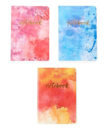 Look what I found on #zulily! Aquarelle Notebook - Set of Three #zulilyfinds