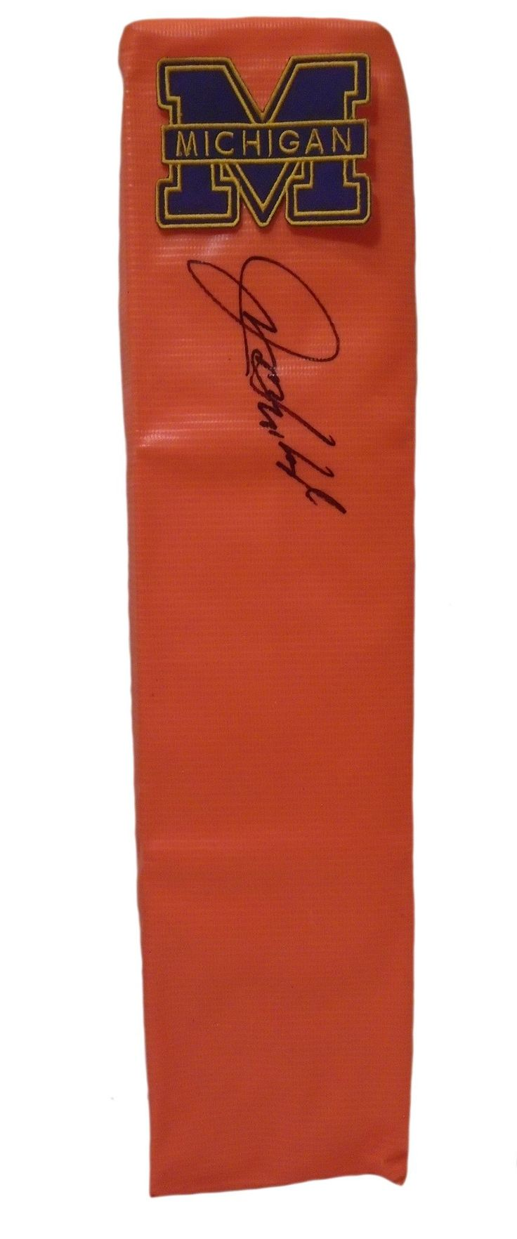 Jim Harbaugh Autographed Michigan Wolverines Full Size Football End Zone…