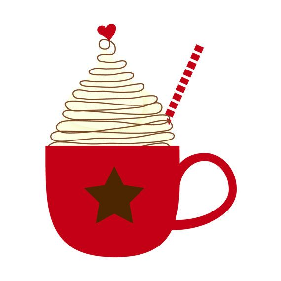 Cup of Hot Cocoa Clip Art Single by by kimsclipartshop on Etsy, $2.00
