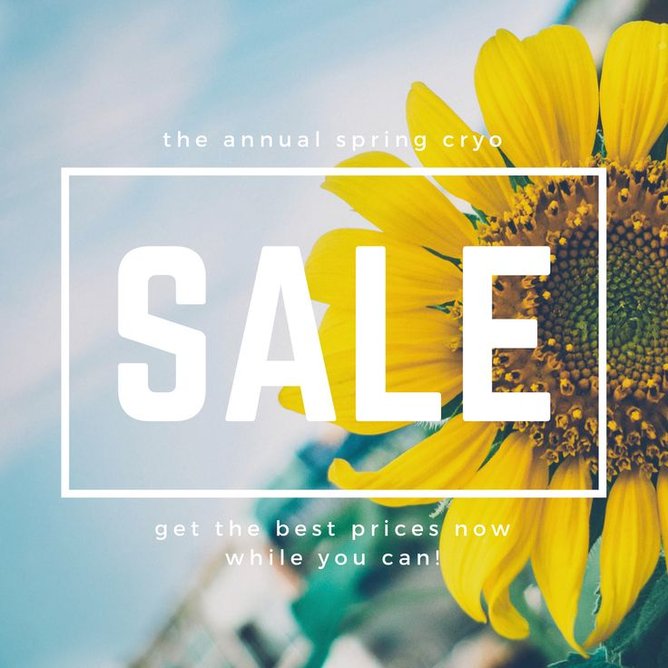 🌻 Don't forget about our Spring cryo sale 🌻 ❄️ Going on now ❄️ ☃️☃️☃️☃️☃️ $25 first session $39 single session 3 pack $99 5 pack $149 10 pack $249 Call 📞 or dm 📟 us to get these prices now before they are gone!  ❄️ Absolute Zero Cryo 📞 469-567-3145