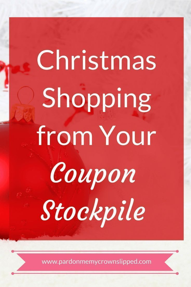 How to do your Christmas shopping from your coupon stockpile. Christmas shopping or any gift giving on a budget using items you've already purchased
