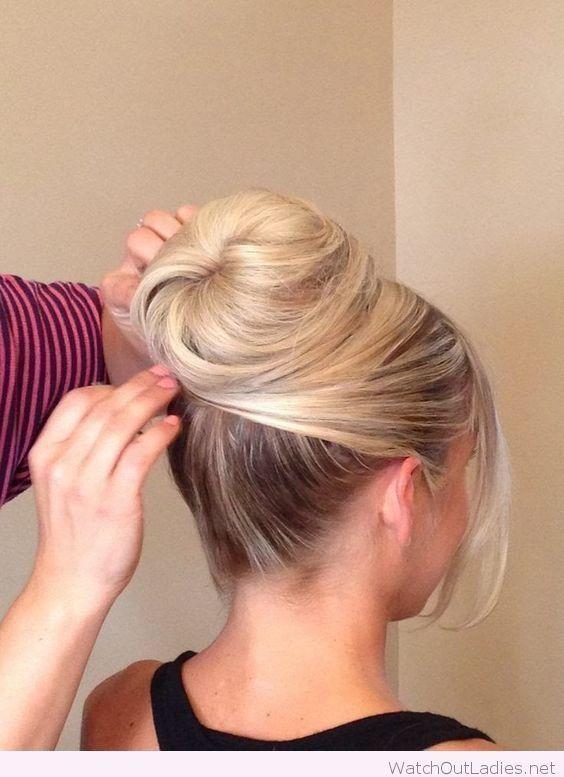 Top blonde bun design – Watch out Ladies