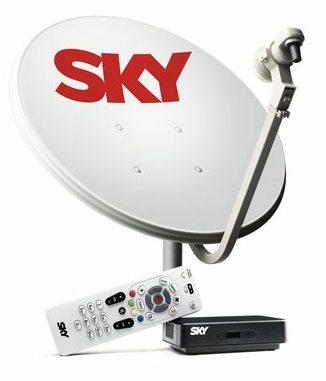 É a antena parabólica da SKY sem compromisso de mensalidade. Ao comprar o aparelho SKY LIVRE você terá a sua disposição até 43 canais ( 29 vídeo e 14 rádio ) com qualidade de som e imagem 100% digital.