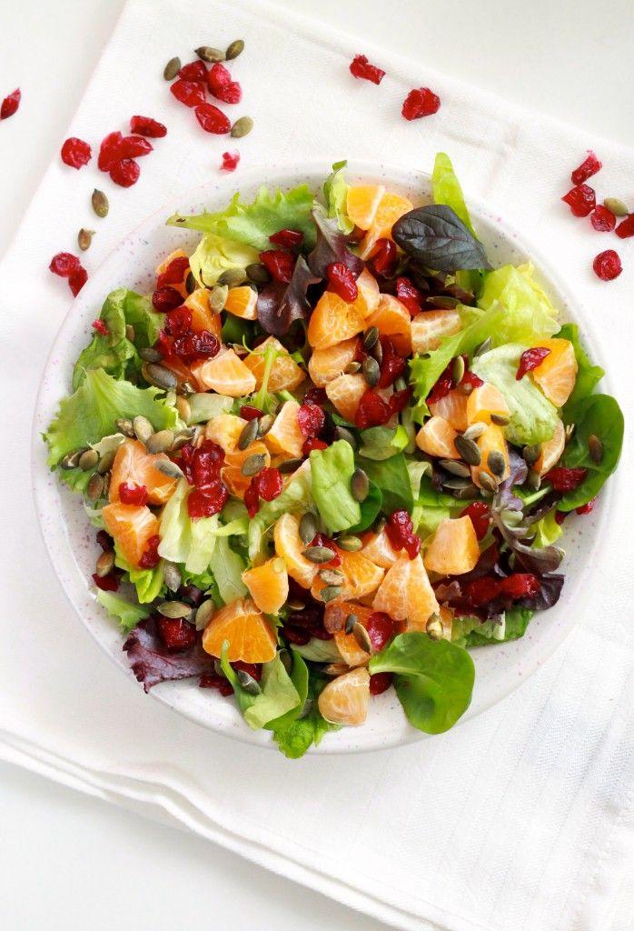Cranberry Mandarijn Salade | Plantbites