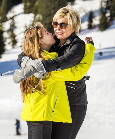 Princess Laurentien and her daughter Eloise. Lech 22 February 2016.