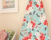 Ironing Board Cover - Flea Market Fancy - Bouquet in Aqua