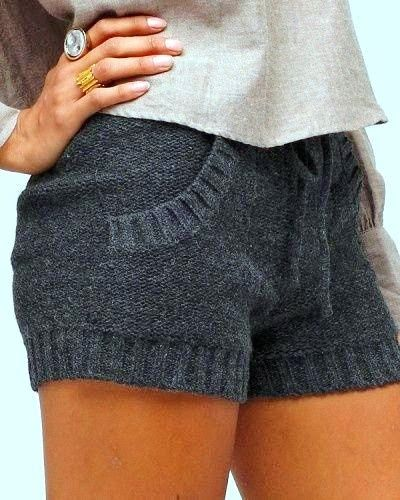 Cozy Gray Sweater Shorts. #cozy #grey. like small shorts and style. use different faberic