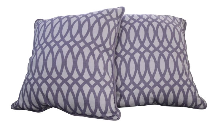 Spring Fresh Modern Cotton Euro Pillows, A Pair