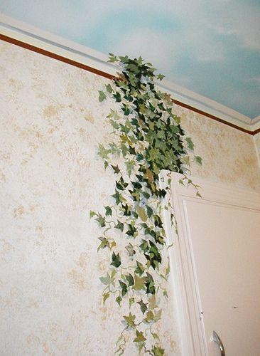 wisteria wallpaper bathroom - photo #39