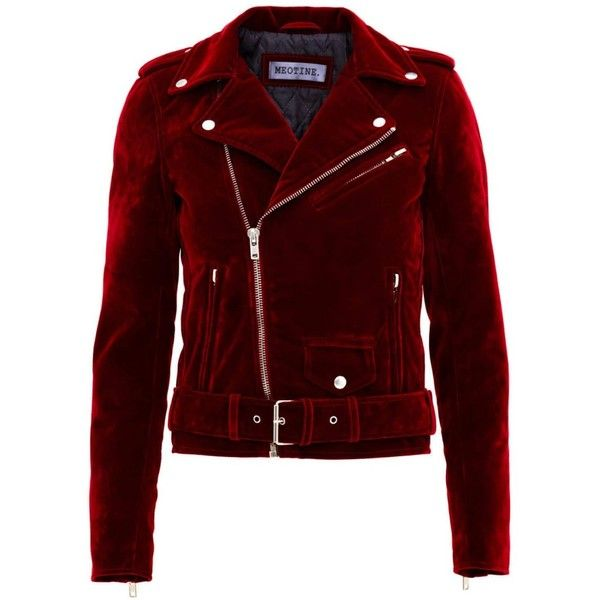 Holly Velvet Jacket Red (£185) ❤ liked on Polyvore featuring outerwear, jackets, coats & jackets, tops, coats, red velvet jacket, red jacket, motorcycle jacket, velvet jacket and red motorcycle jacket