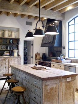 Rustic wood Kitchen Cabinetry + industrial Chic Kitchen. Murphy Mears Architects | Eleanor Cummings Interior Design