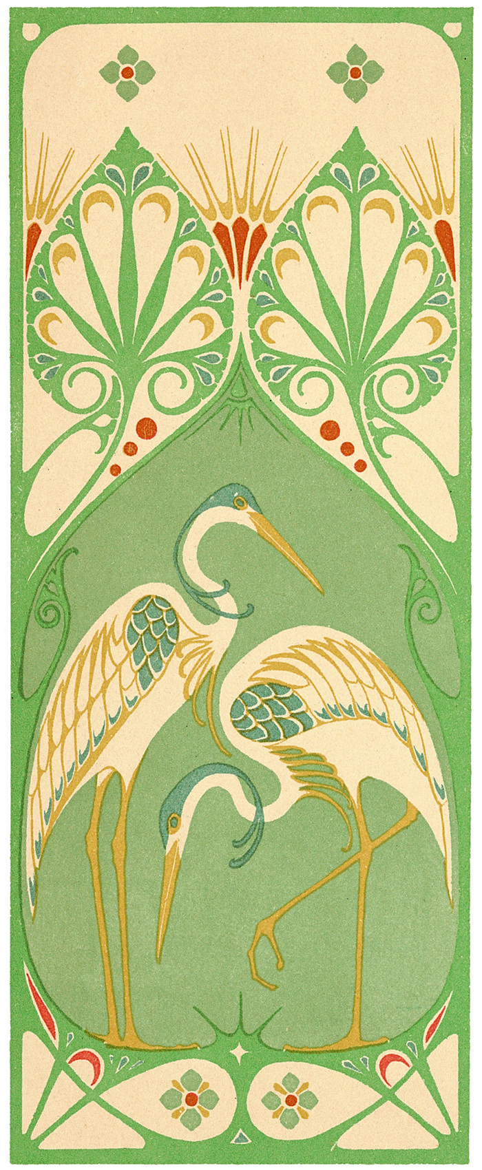 Three decorative panels by A. Smit for 'The Art Decorator; designs in colours for art workers and amateurs'. Published 1907 by H. Grevel & Co.