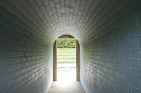What could be outside this tunnel?