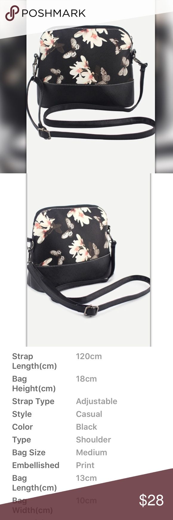 COMING SOON!  Butterfly and Floral Crossbody Bag Adjustable shoulder bag medium sized Bags