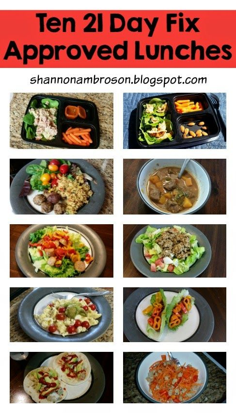 Ten 21 Day Fix Approved Lunches (new ideas weekly from Shannon Ambroson Fitness)