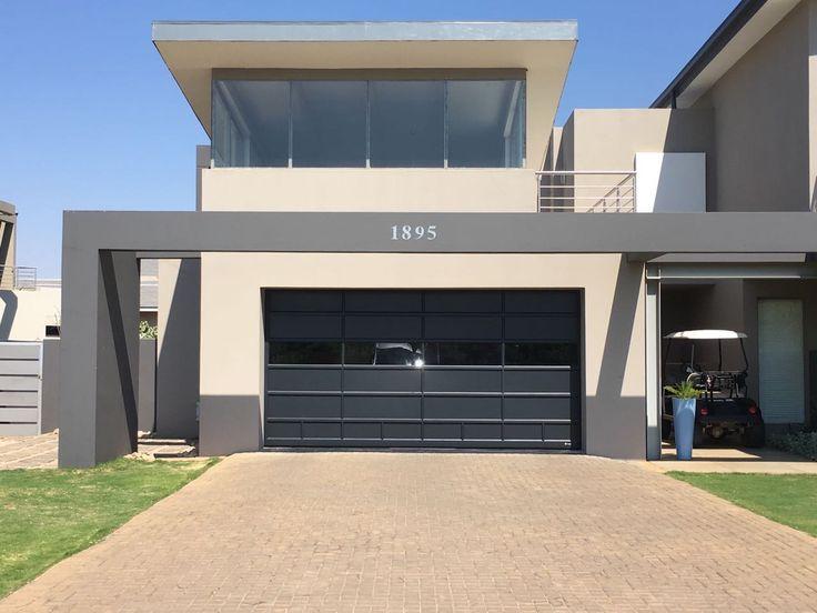 Beautiful Charcoal Aluminium And Glass Coro View Garage Door Aluminium Garage Doors Aluminum Garage Aluminium Doors