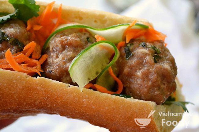 Mama's Meatballs Vietnamese Sandwich - Vietnamese Foody
