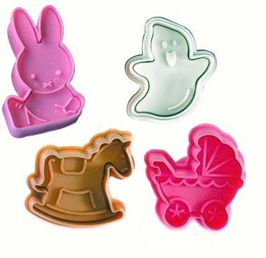 4db-os,5cm-es 3D sütemény kiszúró forma. A húsvét szelleme témában...-Akciós ár:590 Ft