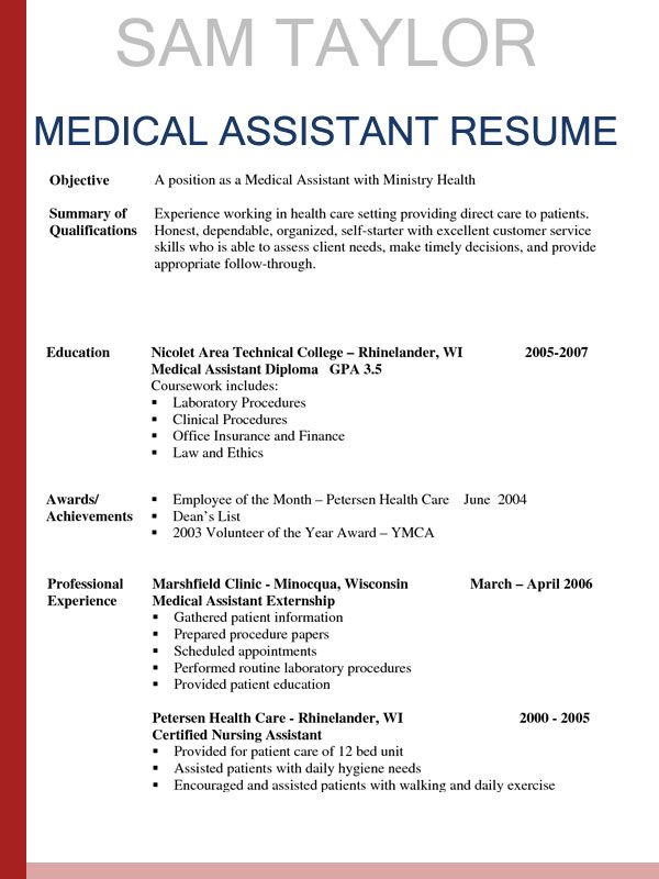 how write medical assistant resume picture gallery duties