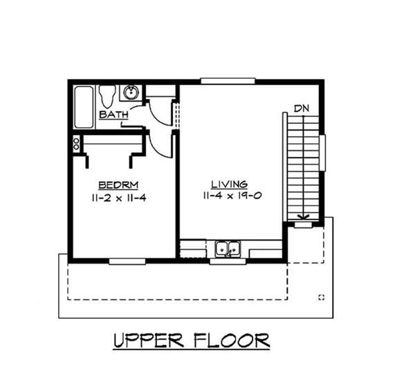 Small house plans house plan 1 bedrms 1 baths 485 sq for Www home plans com