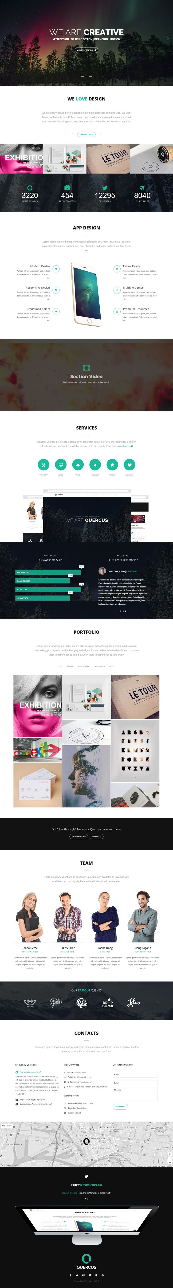 Quercus is Wonderful Responsive HTML Template for Multipurpose Website Download Now ! #HTML5 #HTMLTemplate