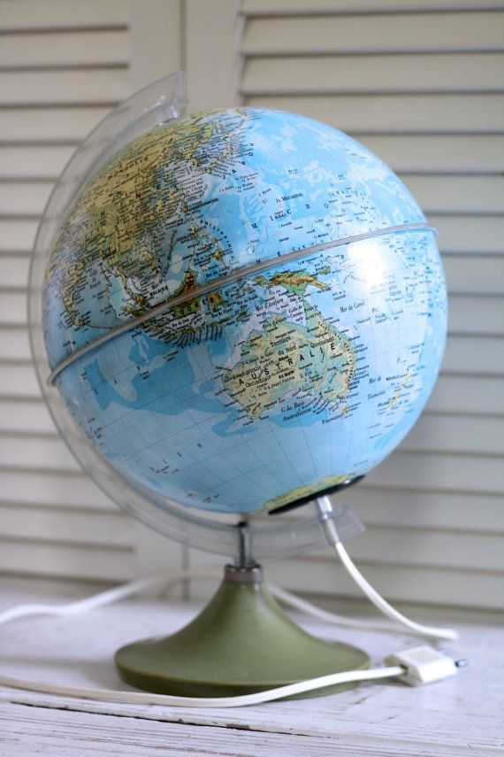 Best 25 earth globe map ideas on pinterest globe of earth french vintage terrestrial globe mappemonde earth globe french luminous globe world map light french world globe lighting children room sciox Image collections