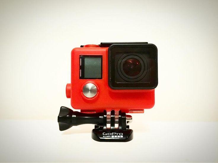 GoPro with Blaze Orange housing! DIY Plastidip your GoPro housing!