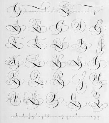 Tipografías, Fuentes / Fonts Ornamental penmanship