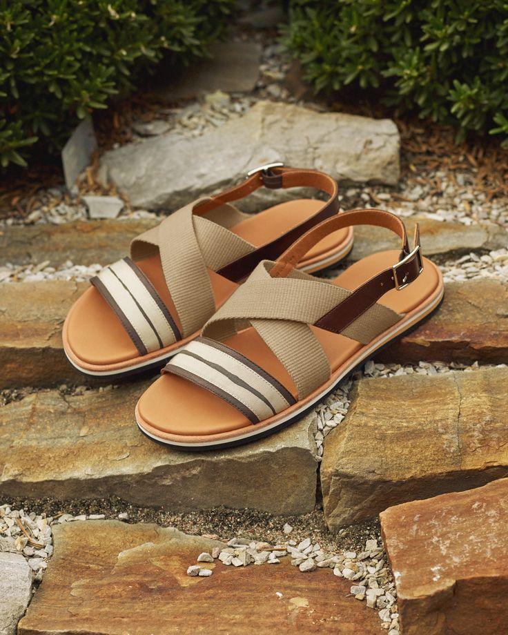 The Jobim Strap Sandal in Sand/Mahogany