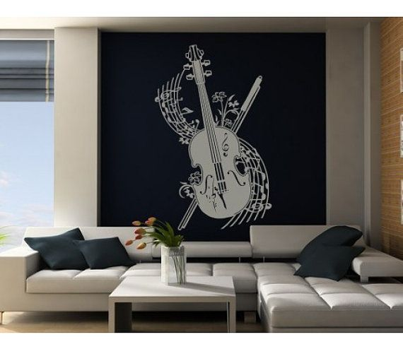 Best Music Wall Decals Images On Pinterest Music Wall Wall - Custom vinyl wall decals falling off