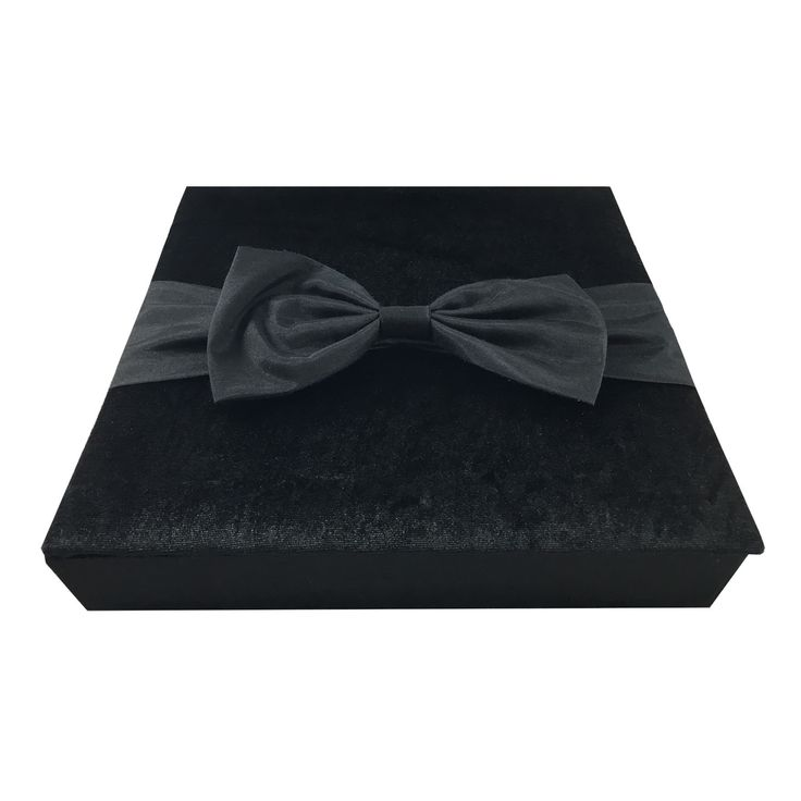 Large Black Velvet Condolence Box