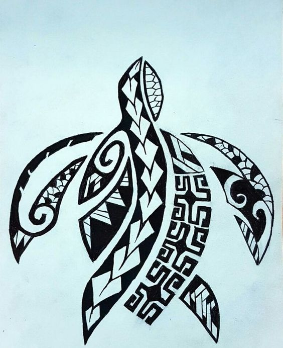tatouage polynésien homme femme tortue idées