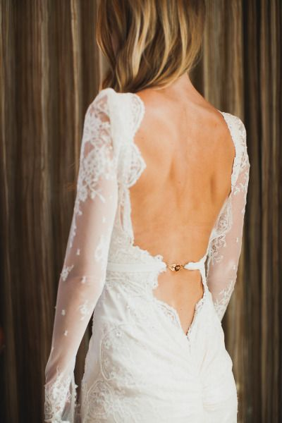 Stunning backless dress: http://www.stylemepretty.com/2014/05/19/bohemian-glamour-in-northern-california/ | Photography: Mr. Haack -http://www.mrhaack.com/
