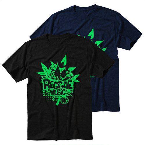 Black+Men's+Tshirt+Rod+To+Music+Reggae+Black+Shirt+For+Men