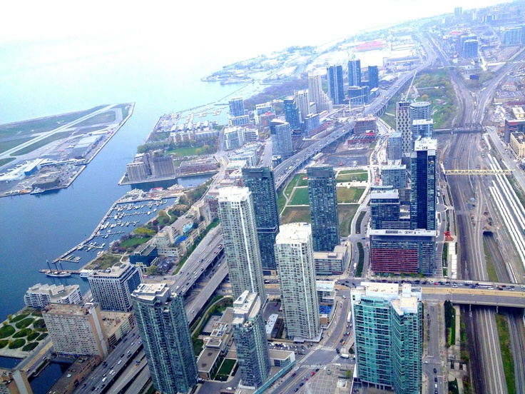 Toronto Downtown view from CN Tower, 2012