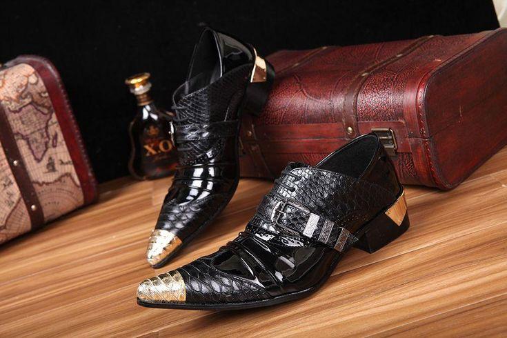 2014 New Japan Style Rock Shoes Men Metal Pointed Toe Increased Heels Men's Leather Shoes Business Shoes Men's Shoe Black , EU 45 46, $121.47 | DHgate.com
